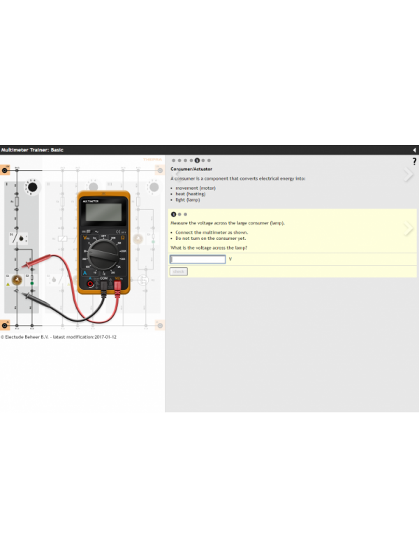 Multimeter Trainer mit E-Learning