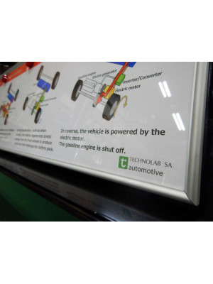 Hybridfahrzeug (TOYOTA Prius 3), Schnitt- und Funktionsmodell mit LEDs